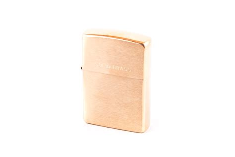 Zippo Brushed Brass With Solid regular brush solid brass lighter tobacco specialists
