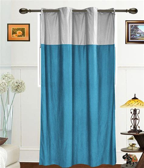silver and blue curtains dekor world single door sheer curtains curtain solid blue