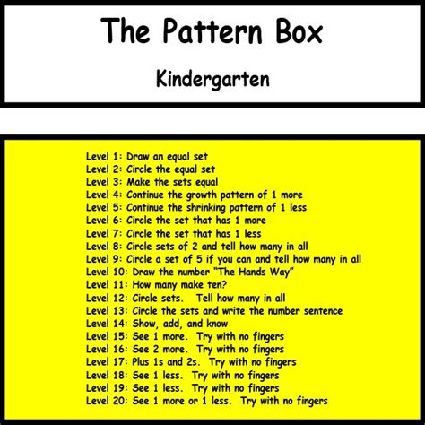 pattern classification table of contents robin ramos pattern box kindergarten download