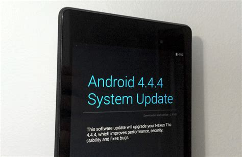 Hp Motorola Kitkat android 4 4 4 kitkat ota update rolls out for nexus 7