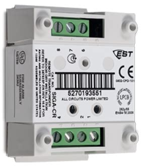 edwards est siga cr control relay module | life safety