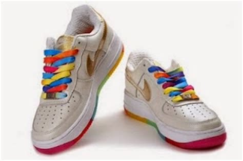 Sepatu Nike Air One Rainbow Sole nike rainbow colorful air one rainbow nike sole