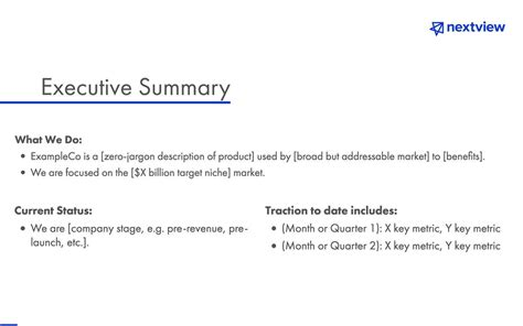 Investment Proposal Template By Nextview Ventures Slidebean Investment Template