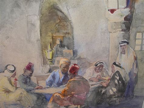 ?Ivantiques   Antiques & Collectibles?   Anna Rychter May Jerusalem Watercolor