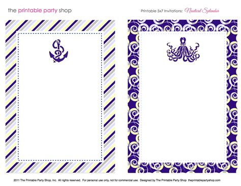 nautical stationery template 8 best images of nautical free printable borders free