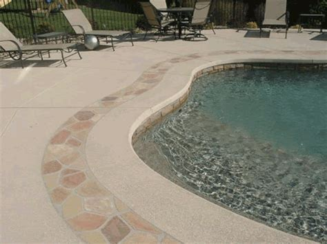 Repour Garage Floor by Pool Decks With Spray Deck Pool Deck Choices