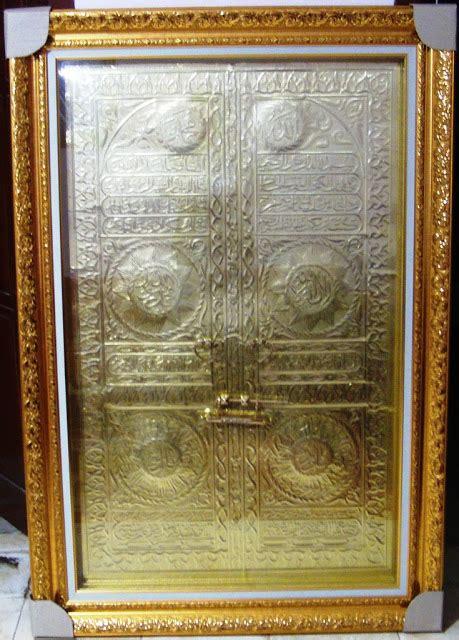 Pajangan Lukisan Pintu Kabah kaligrafi kuningan pintu ka bah terbaru murah kaligrafi