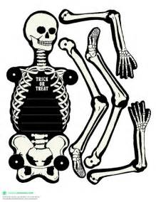 skeleton template to cut out printable skeleton cut out coloring