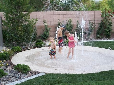 fun things to put in your backyard backyard splash pad no up keep small footprint cheaper