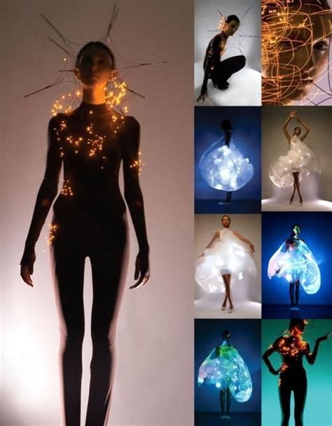 Hussein Chalayans Amazing Fashion And Technology Mix 2 by Philips Led Light Clothes By Huang And Hussein