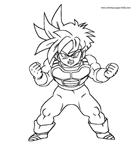 coloring pages of dragon ball z characters dragon ball z color page cartoon color pages printable
