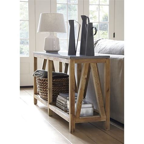 sofa table crate and barrel bluestone console table crate and barrel crate and