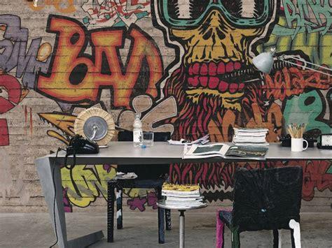 carta da parati ragazzi carta da parati graffiti murales colori e fantasia