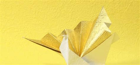 Special Origami Paper - how to make a special origami crane with washi paper