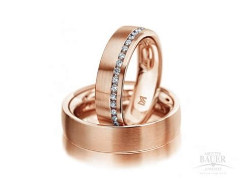 Rotgold Ring by Trauringe Partnerringe Rotgold 585 000 Meister 10091