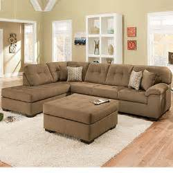 simmons 174 malibu mocha 2 sectional with four pillows