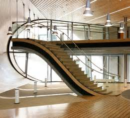 Custom Staircase Design Modern Interior Level House Using Custom Made Staircase Design And Metal Handrail Also Wooden