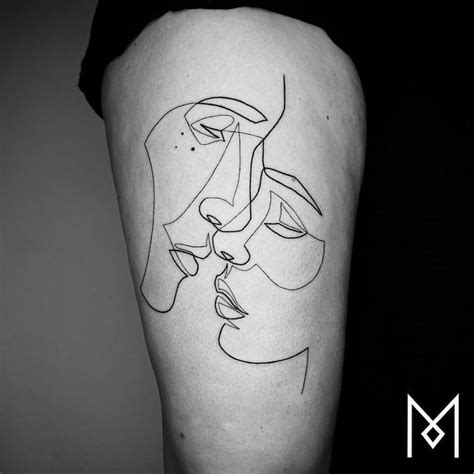 minimalist tattoo series by mo ganji shows depth of line