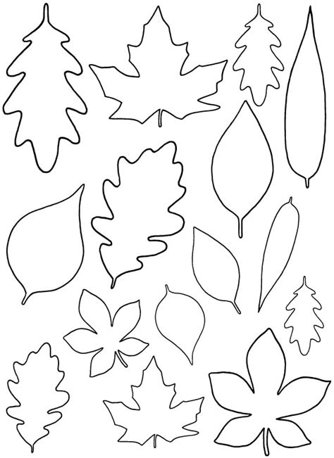 printable fall leaf shapes diy paper leaves free leaf template
