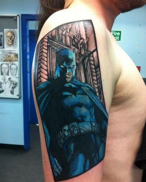 batman pin up tattoo batman comic image tattoo batman in comic book style panel