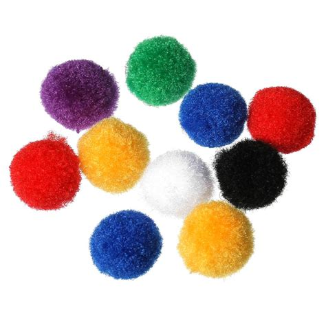 Handmade Pom Pom Decorations - terylene pom pom handmade decoration diy knitting