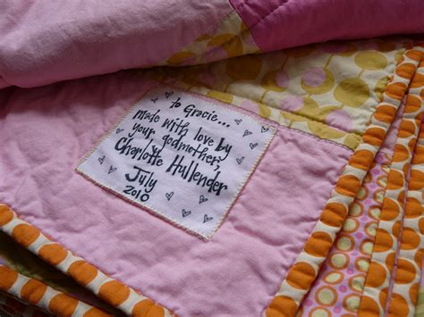 Handmade Labels For Quilts - labels are a thing adding info to your handmade