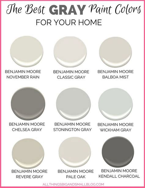 best grey paint colors 2017 gray paint colors for your home best benjamin moore