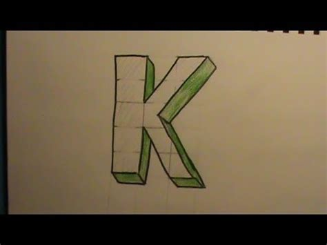 K Drawing 3d by How To Draw The Letter K In 3d