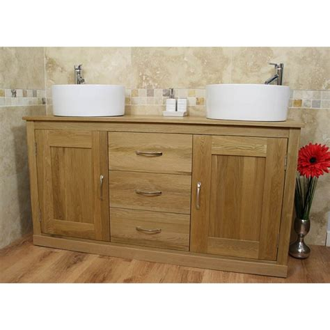 Light Oak Bathroom Furniture Light Oak Furniture Large Ceramic Bathroom Sink Unit Click Oak