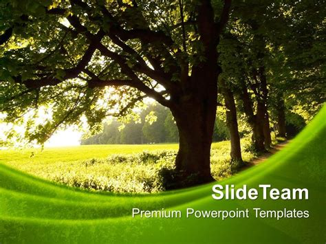 free powerpoint template nature metlic info
