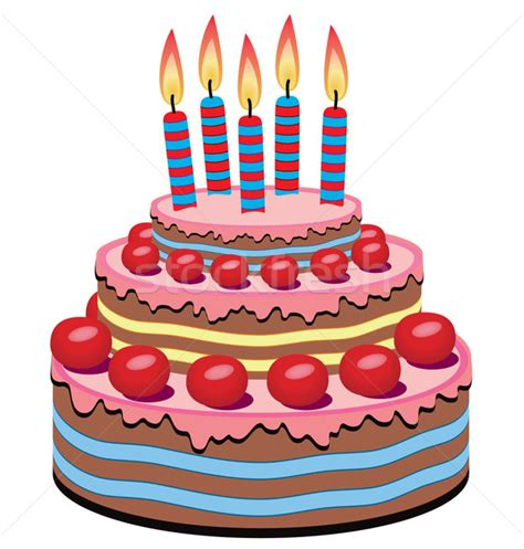clipart gratis compleanno vector birthday cake vector illustration 169 dmitry