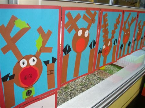 photos of elementary students christmas art a faithful attempt rudolph at the window collage