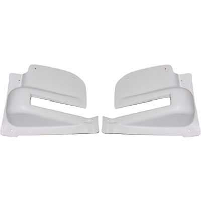 vw rear door hinge covers pair white 1964 67 vw