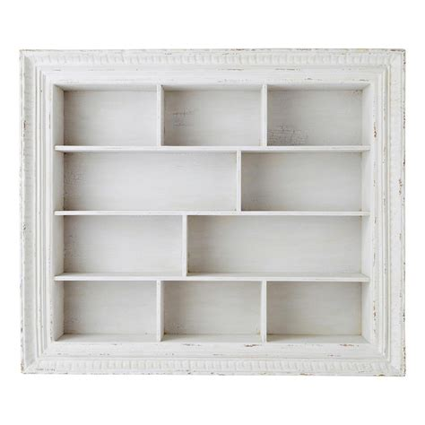 scaffale bianco scaffale bianco in legno l 110 cm faustine maisons du monde
