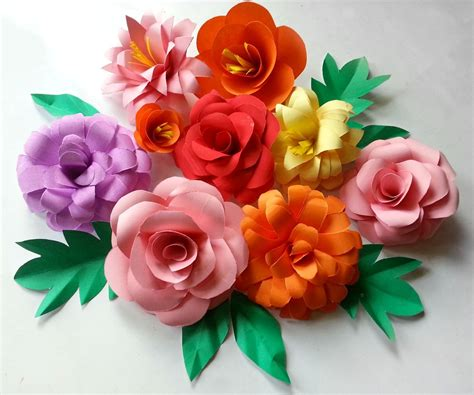 flower design using colored paper diy paper flowers folding tricks
