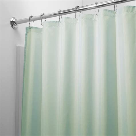 seafoam green shower curtain interdesign 72 inch by 72 inch fabric waterproof shower