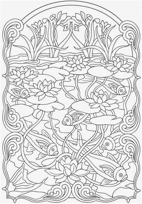 anti stress coloring book japan koi fish coloring page 57