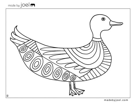 pages templates free made by joel 187 duck and goat coloring sheets