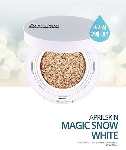 Diskon April Skin Magic Snow Cushion Spf50 New Original Black Version april skin magic snow cushion white spf50 23