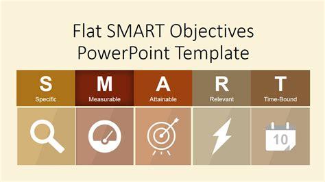 flat smart objectives powerpoint template slidemodel