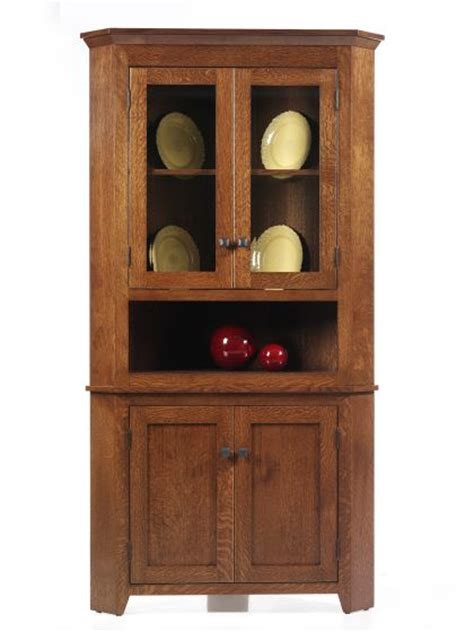 corner hutches for dining room newport shaker corner hutch amish dining room furniture