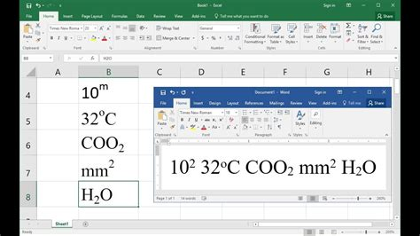 visio subscript shortcut key to do superscript subscript in ms excel word