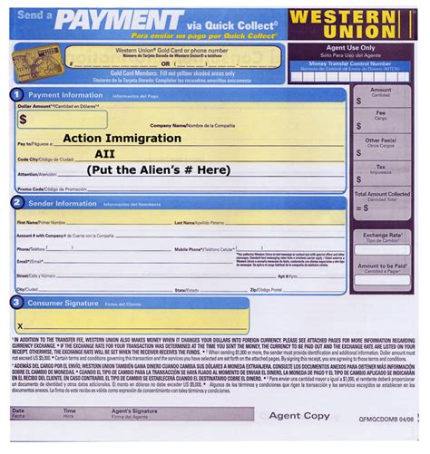Western Union Receipt Template by Immigration Bail Bonds