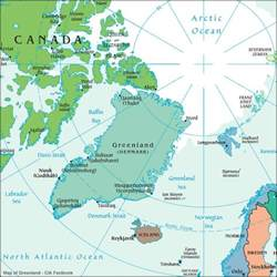 map of canada and greenland greenland maps