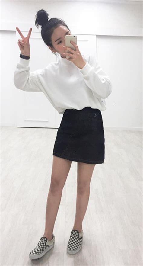 Korean Black Style sweater high neck white white sweater