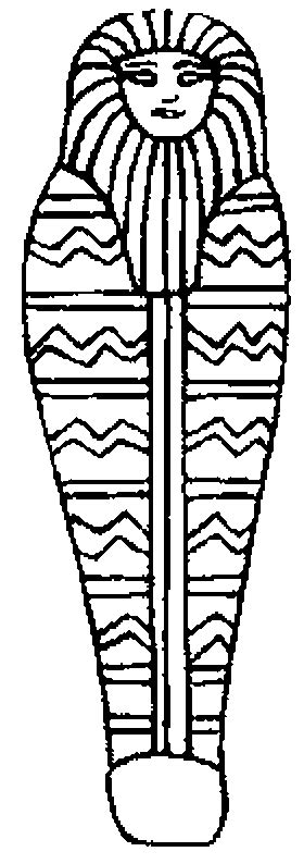 free coloring pages of egyptian sarcophagus