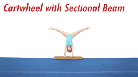 sectional beam tumbl trak cartwheel with sectional beam video