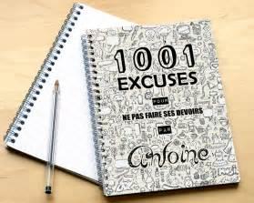 cahier 1001 excuses pour ado