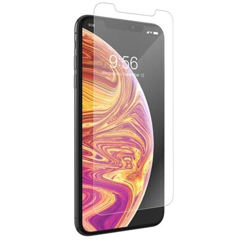 zagg apple iphone xs max invisibleshield glass smudge proof screen protector target