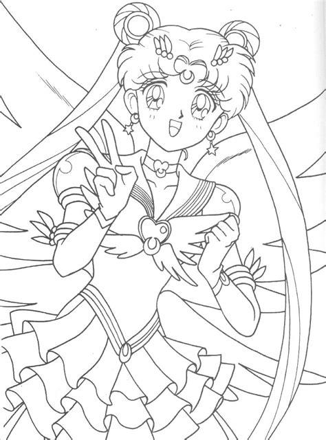 eternal sailor moon coloring page sailormoon sailor